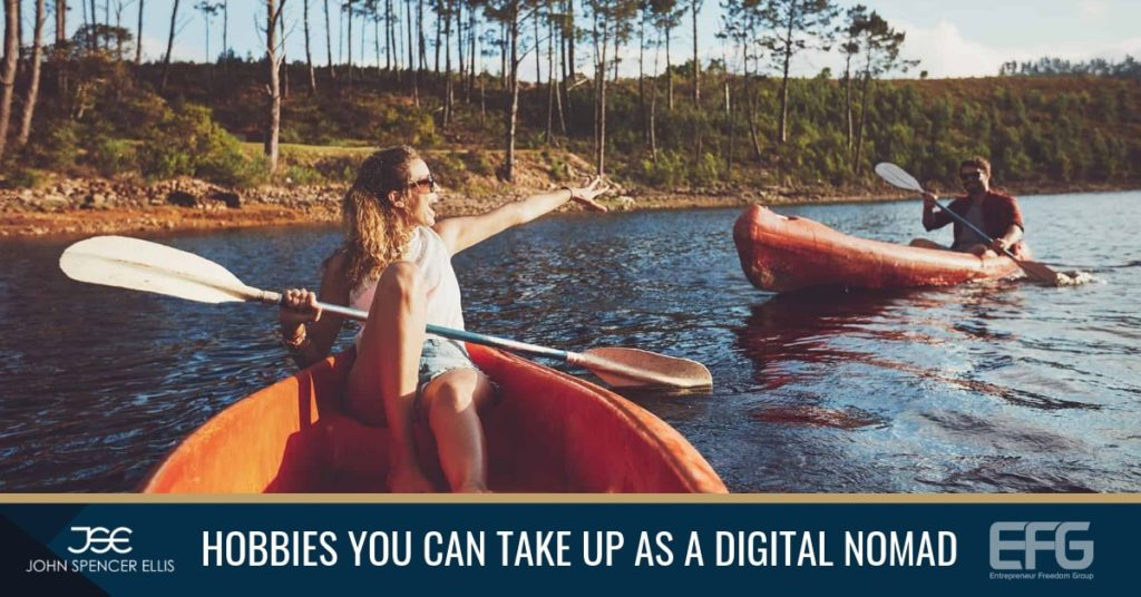 Having and maintaining different hobbies and activities as a digital nomad or traveling entrepreneur can help you perform better in other areas of your life.